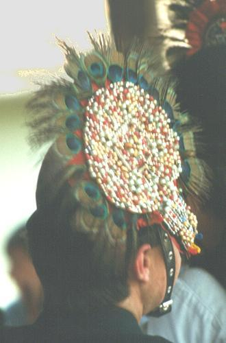 Decorated Călușeri felt hat